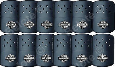 Zippo set of 12 HARLEY DAVIDSON BLACK Refillable Deluxe Hand Warmer +Pouch 40319