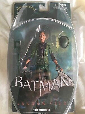 DC Direct Batman Arkham City Series 2: The Riddler Collector Action Figure NIB