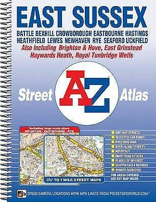 East Sussex Street Atlas by Geographers' A-Z Map Company (Spiral bound, 2011)