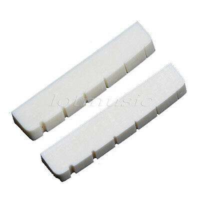 2Pcs Real Bone Nuts Slotted For Electric Guitar Nut Guitar Parts