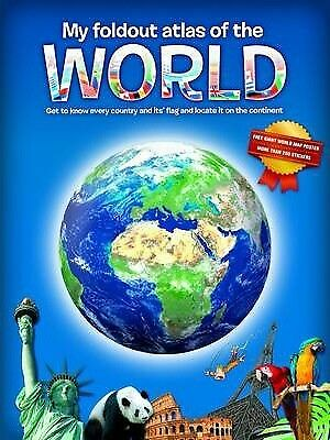 My Fold-Out Atlas of the World by Yoyo Books (Hardback, 2014)