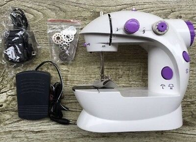 Mini Portable Sewing Machine with Lights, Doble Threads, Double Speeds. Includes