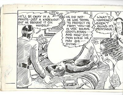 TAILSPIN TOMMY original art DAILY NEWSPAPER STRIP 1934 by HAL FORREST and SIGNED