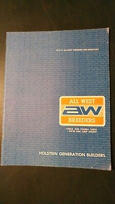 All-West Breeders Coop. 1973-74 Holstein Dairy Cattle Sire Directory