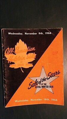 1966 All-Canadian & Sale Of Stars Holstein Sale Catalogs -  Ontario Canada