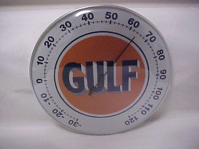 """Gulf """"12 Round Thermometer Glass Dome Front & Aluminum Casing"""
