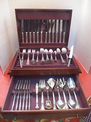 Gorham Chantilly Sterling Silver Flatware For 12 Excellent In Chest 142 Pieces