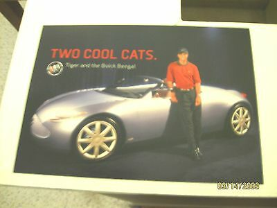 Buick Bengal 2+2 Concept Car 250 HP with Tiger Woods Promo Postcard 2001