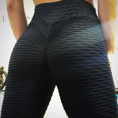 High Waist Fitness Leggings Women Workout Push Up Trousers Solid Pants