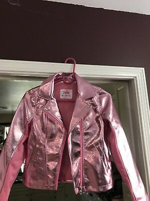 Justice Girl's Pink Moto Jacket Size 10 New