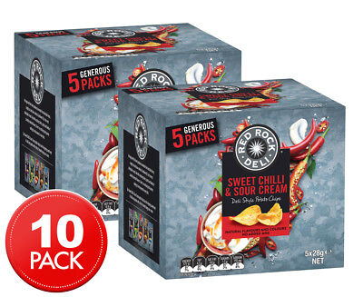 2 x Red Rock Deli Sweet Chilli & Sour Cream Chips 5pk