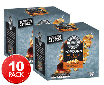 2 x Red Rock Deli Maple Butter & Sea Salt Popcorn 5pk