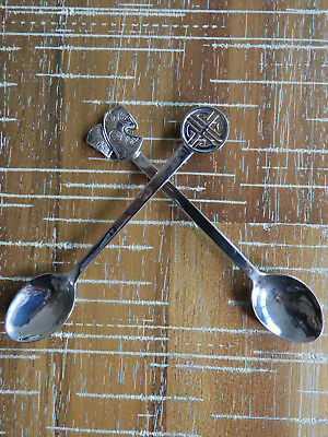 2 X (Pair) Vintage Sterling Silver Asian Spoons/teaspoons Chinese? Japanese?