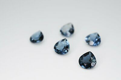 7mm Heart Cut Natural London Blue Topaz Calibrated A+ Loose Faceted Gemstone