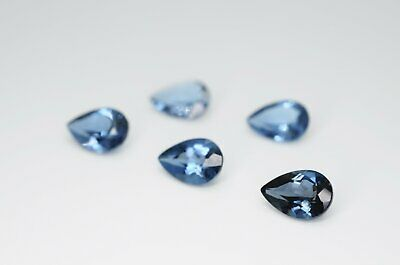 9 x 6mm Pear Cut Natural London Blue Topaz Calibrated A+ Loose Faceted Gemstone