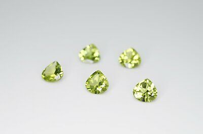 6mm Heart Cut Natural Peridot Calibrated A+ Loose Faceted Gemstone