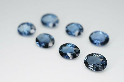 9 x 7mm Oval Cut Natural London Blue Topaz Calibrated A+ Loose Faceted Gemstone