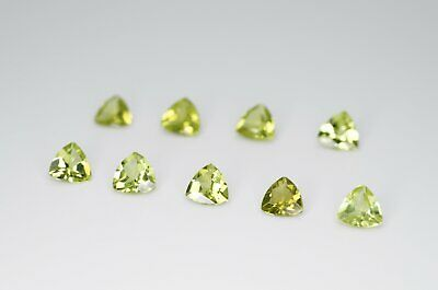 5mm Trilliant Cut Natural Peridot Calibrated A+ Loose Faceted Gemstone