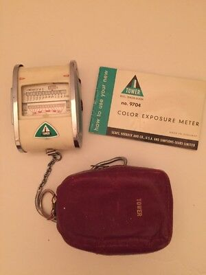 Functional Tower Exposure Meter No 9704 With Book And Case