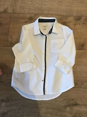 boys white shirt 12-18 months