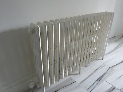 """Cast iron radiator, 4 column 20 sections 46 inches wide 30"""" high 6"""" deep"""