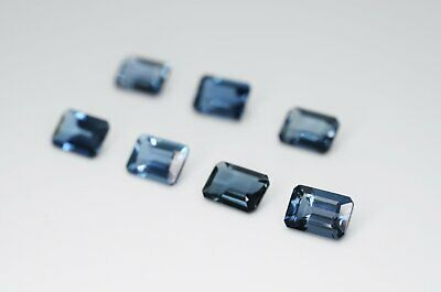 7 x 5mm Octagon Cut Natural London Blue Topaz Calibrated A+