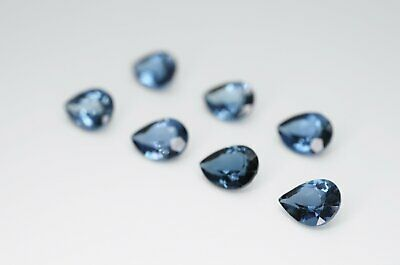 8 x 6mm Pear Cut Natural London Blue Topaz Calibrated A+ Loose Faceted Gemstone