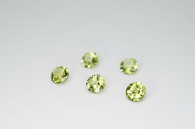 5mm Round Cut Natural Peridot Calibrated A+ Loose Faceted Gemstone