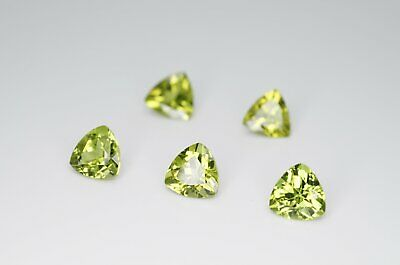 7mm Trilliant Cut Natural Peridot Calibrated A+ Loose Faceted Gemstone