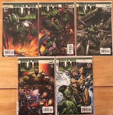 WORLD WAR HULK #1-5 (2007) Complete Series *Mint* Bagged & Boarded. J.Romita Jr