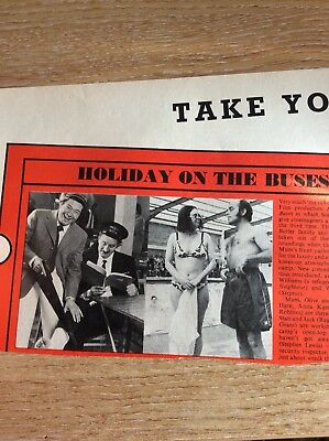 J1c Ephemera 1970s Film Review Picture Holiday On The Buses