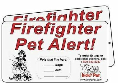 Firefighter Pet Alert Stickers Ultra-Bright Reflective Vinyl by 3M see Two Pack