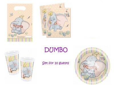 Dumbo ~ Tableware Birthday Party ~ Cups / Napkins / Plates / Bowls / Party Bags
