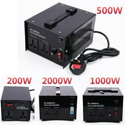 220V-110V Step Up Down Voltage Transformers Converter For UK 200/500/1000/2000W