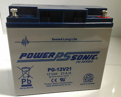 Power Sonic 12V 21AH Long 6FM18E, 6FM18, 12v replacement battery pack