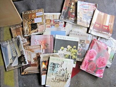 LAURA ASHLEY CATALOGUES x 20 BOOKS COLLECTION with BASKET