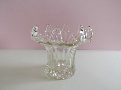 Vintage Glass Vase with Clawed Rim (74,146)