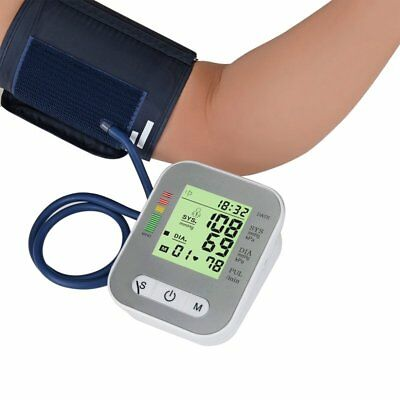 NEW Upper Arm Blood Pressure Pulse Monitor Digital LCD Sphygmomanometer Family R