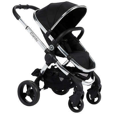 iCandy Peach Pushchair with Chrome Chassis & Black Magic 2 Hood