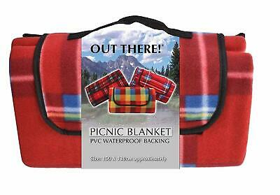 NEW Waterproof Fleece Picnic Blanket 1.5m x 1.3m | Beach Garden Rug | ihartTOYS