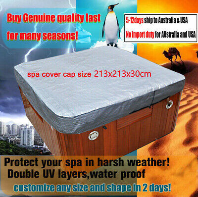customize vary size Hot Tub Spa Cover Cap Waterproof Protector 213x213x30