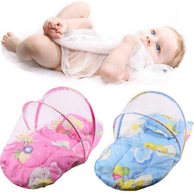 2 Colors Creative Portable Foldable Infant Mosquito Net Cotton-Padded Mattress