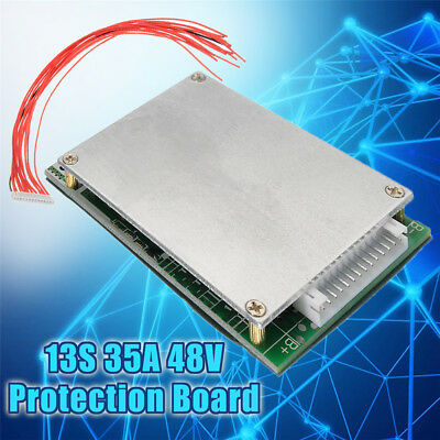 Lithium Battery Charger Protection Board BMS Li-ion Charging Module 13S 35A 48V