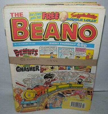 The Beano Comic - 53 Comics  - Dated 1996 - Paperback,  ( REF17)