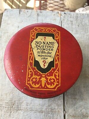Vintage Red Tin ? No Name Dusting Powder With The Marvelous Odor ?