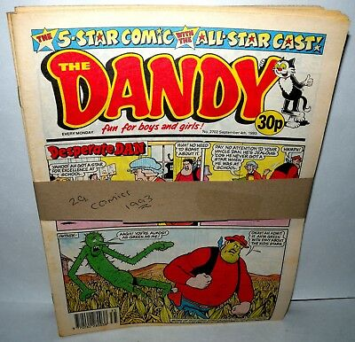The Dandy Comic - 29 Comics  - Dated 1993 - Paperback,  ( REF29)
