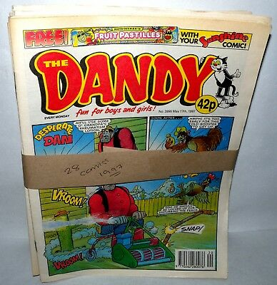 The Dandy Comic - 28 Comics  - Dated 1997 - Paperback,  ( REF31)