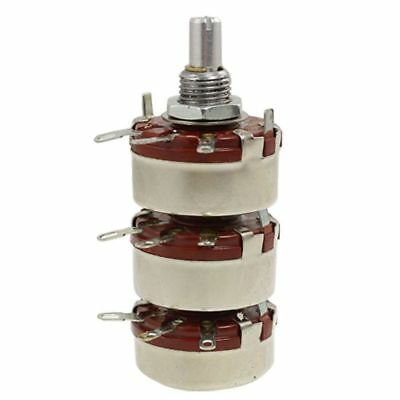 WTH118-3 Slot End Style Shaft 470 ohm 2W Carbon Film Potentiometer,red X3P4