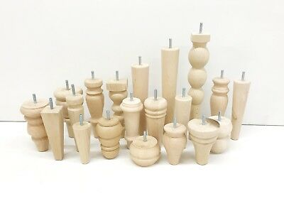 Wooden legs, REPLACEMENT various legs for sofa armchair footstool