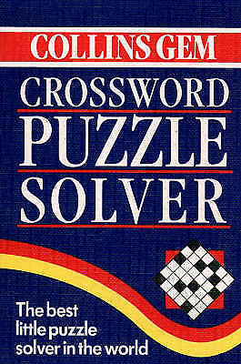 Crossword Puzzle Solver (Collins Gem) (Gem Dictionaries), Widdowson, John, Very